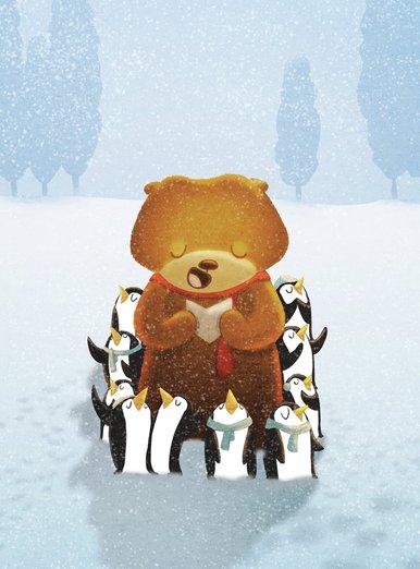 - bear, cold, cute, holiday, joy, penguin, penguins