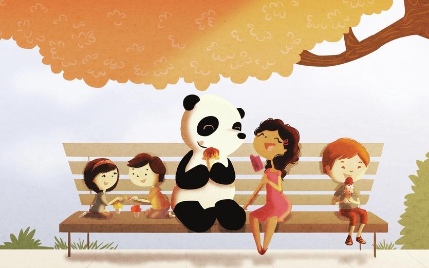 - adorable, bear, bench, black, blue, brown, cartoon