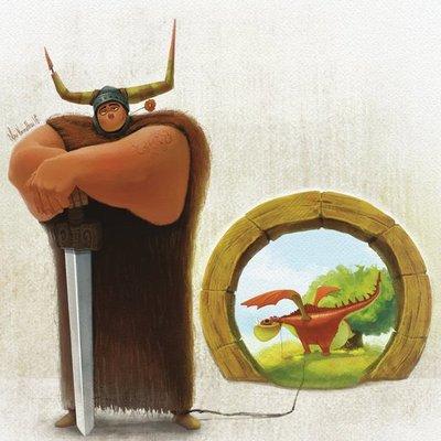 Viking and his dragon