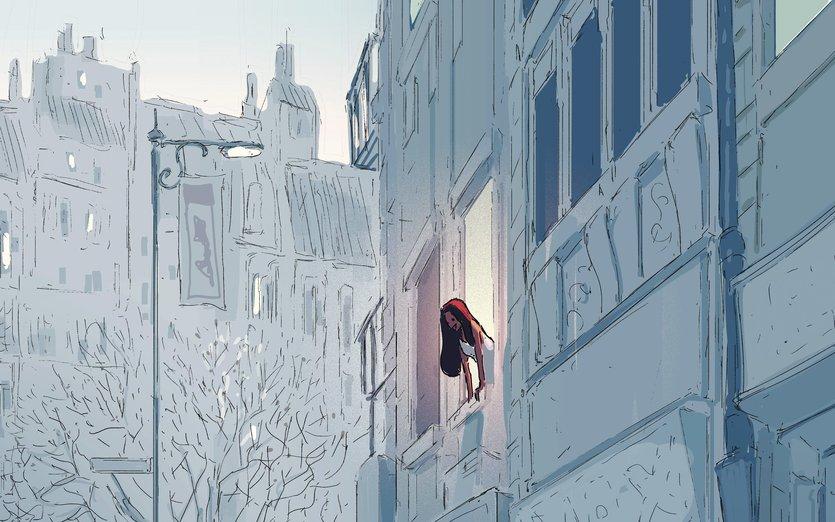 - balcony, boy, boyfriend, building, city, couple, dating