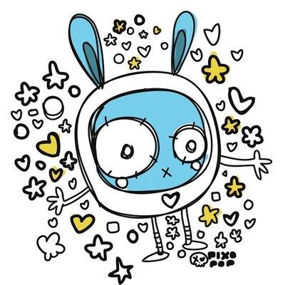 bunny hearts stars