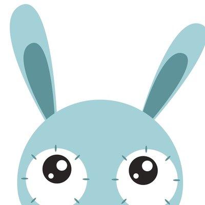 look up bunny