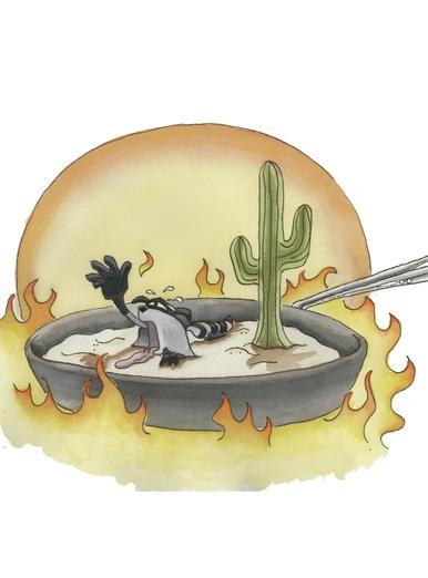 Frying in the desert