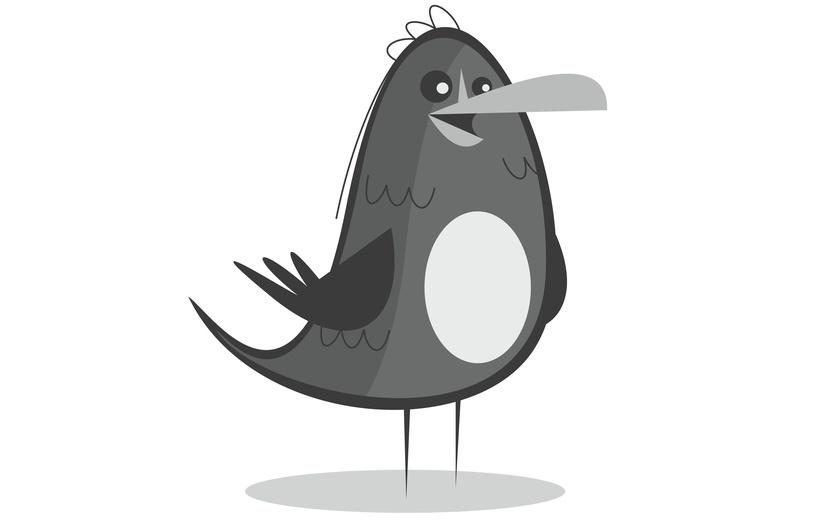 - adorable, animal, bird, birds, black, cartoon, cartoony