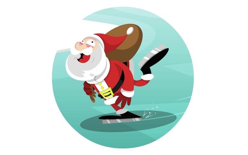 Santa Skating