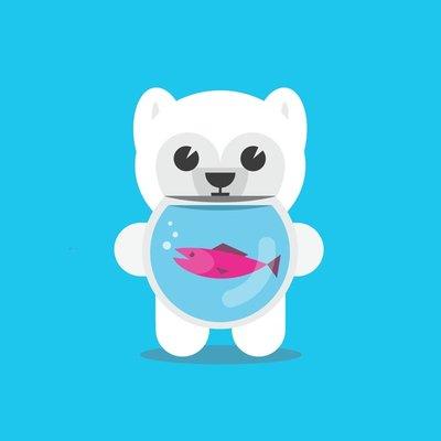 Polar Bear Fish Bowl