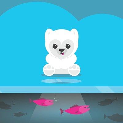 Polar Bear Watching Fish