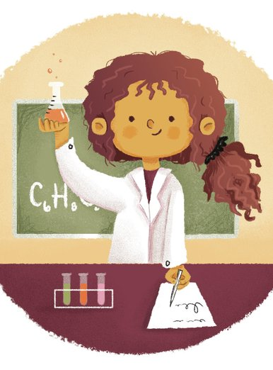 Girl Scientist [vignette]