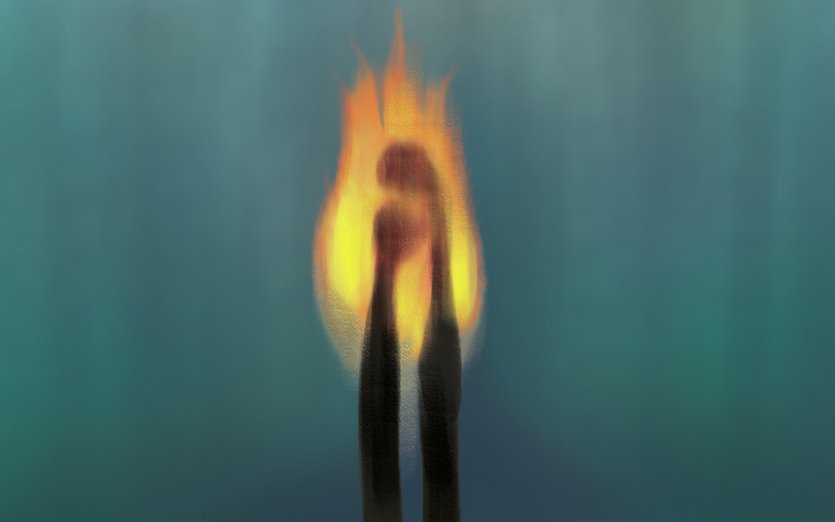 - burn, burning, couple, divorce, double, fire, flame