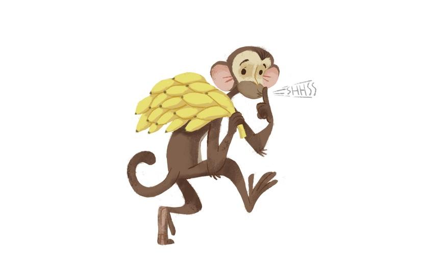 adorable adorbs animal banana brown cartoon cartoony