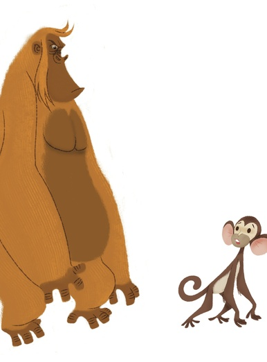Small Monkey & Huge guy
