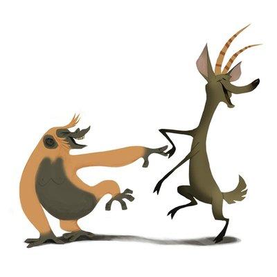 Tango Chimp & Deer