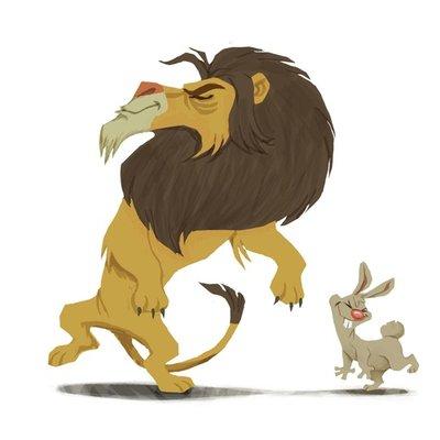 Tango Lion & Rabbit