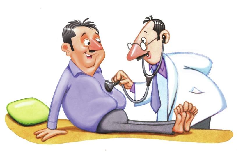 - calm, cartoony, characters, clinic, cute, examination, fitness