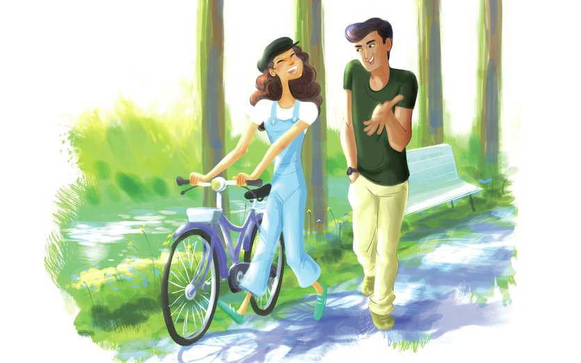 - adorable, bicycle, bike, bright, care, chat, colorful