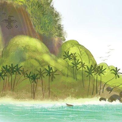 Hidden tribal beach