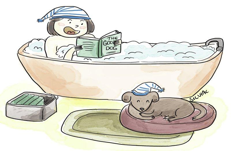- adorable, animal, animals, baby, bath, bathroom, bathtub