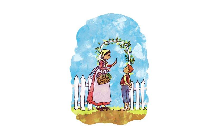 - boy, family, garden, mother, outdoors, summer