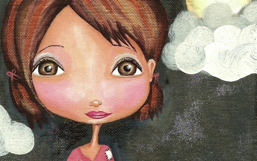 - adorable, black, brown, cartoon, cartoony, character, colored