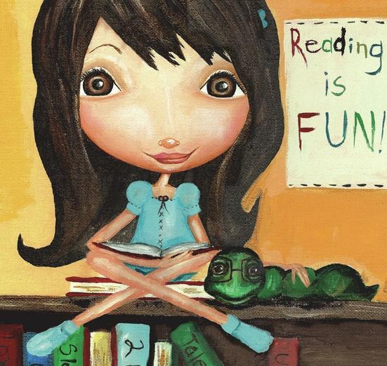 - adorable, blue, book, books, bookshelves, brown, cartoon