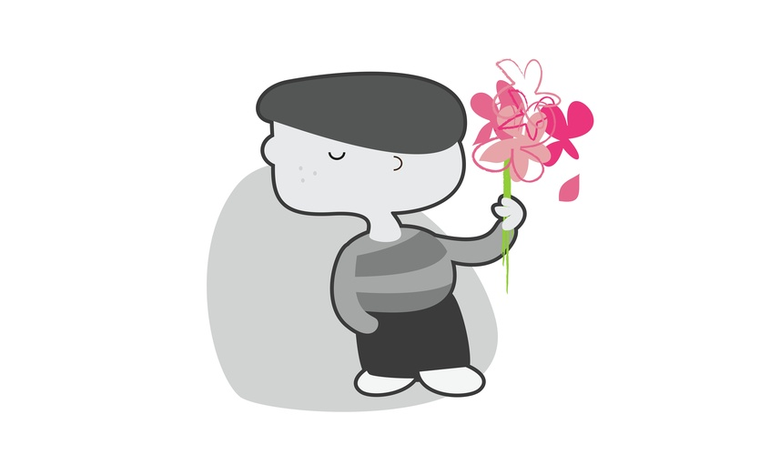 - andre, cap, character, closedeyes, digitalart, flora, flower