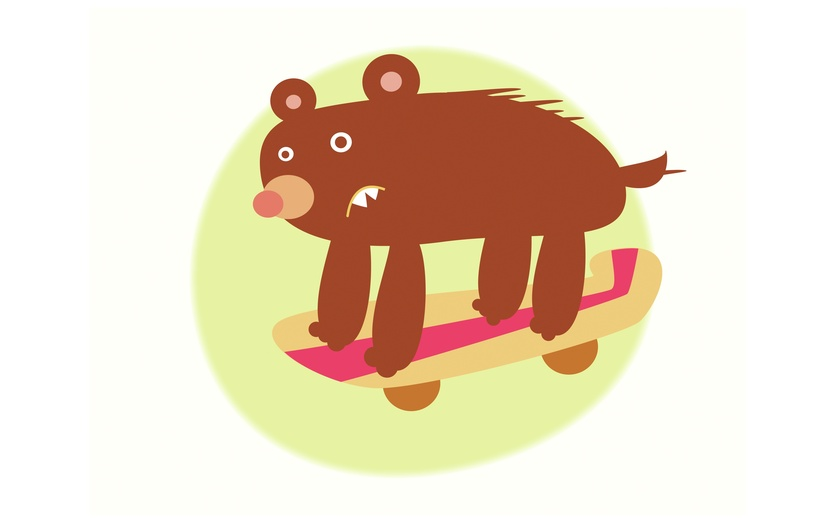 - animal, bear, beige, board, boarding, brown, colored