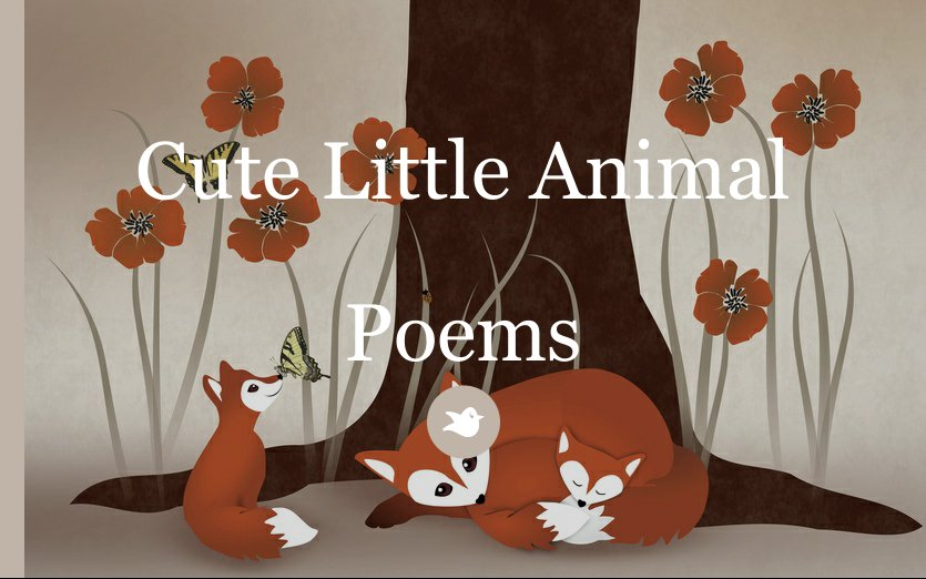 Cute Poetry Book Covers : Cute little animal poems by meowpurrcat chapter