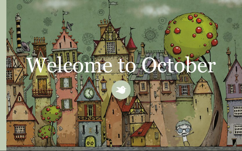 Welcome to October