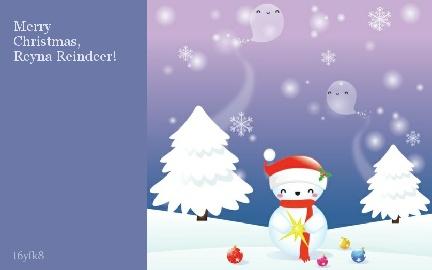 Merry Christmas, Reyna Reindeer!