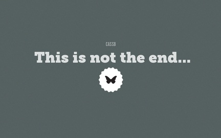 This is not the end...