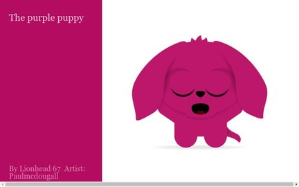 The purple puppy