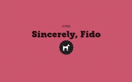 Sincerely, Fido