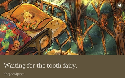Waiting for the tooth fairy.