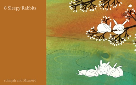 8 Sleepy Rabbits