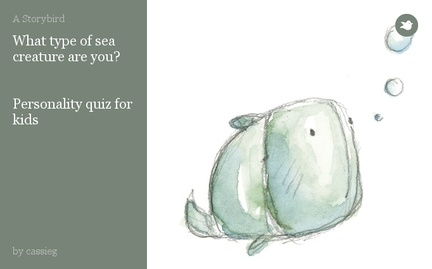 What type of sea creature are you?   Personality quiz for kids