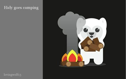 Hidy goes camping
