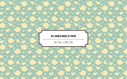 In a world made of paper