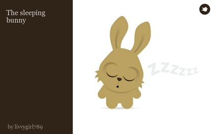 The sleeping bunny