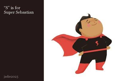 """""""S"""" is for Super Sebastian"""