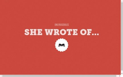 SHE WROTE OF...