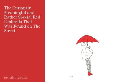 The Curiously Meaningful and Rather Special Red Umbrella That Was Found on The Street