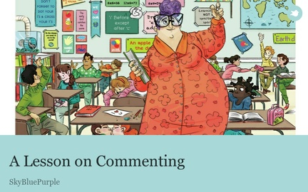 A Lesson on Commenting