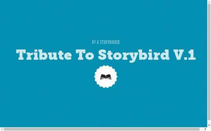 Tribute To Storybird 1