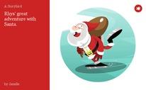 Rhys' great adventure with Santa.
