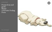 Poems from 2nd grade:  Sleepy A Favorite Feeling Poem