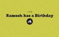 Ramesh has a Birthday