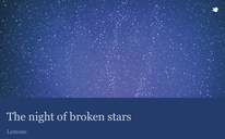 The night of broken stars