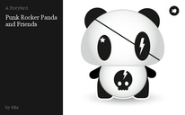 Punk Rocker Panda and Friends