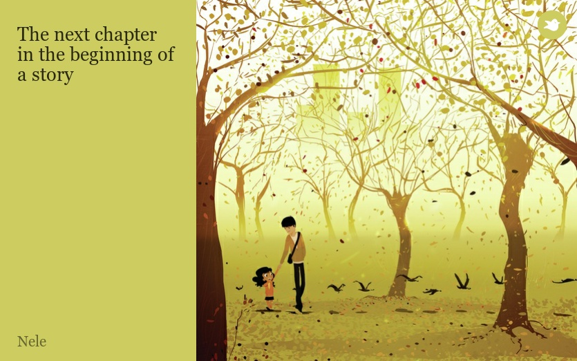 the next chapter in the beginning of a story by nele