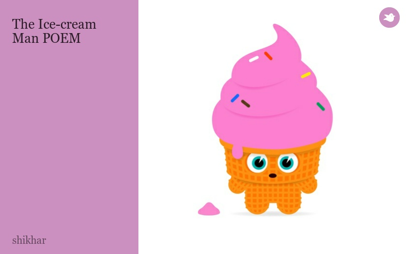 Ice Cream Man Poem The Ice-cream Man Poem by